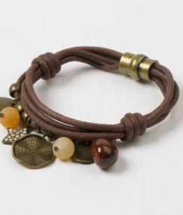 Polsera Judith minerals zamak daurat tanca d'imant cotó fet a mà Egass Barcelona.