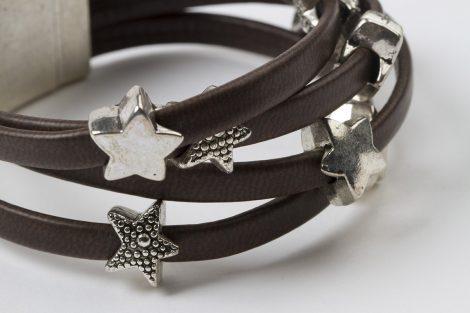 Pulsera Estrella marrón egass barcelona hecho a mano