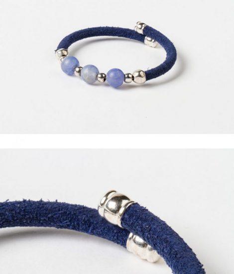 Pulsera Candela azul.Egass barcelona hecho a mano