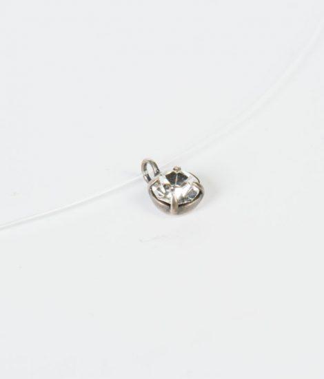 Collar Alina cristal tallado hilo transparente hecho a mano Egass barcelona.