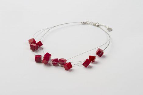 Collar Arabela coral bambú.